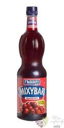 "Fabbri Mixybar "" Cranberry "" Italian mixed berry coctail syrup 00% vol.   1.00 l"