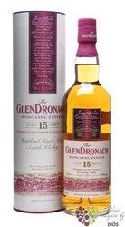 "GlenDronach "" Moscatel finish "" aged 15 years Single malt Speyside whisky 46% vol.    0.70 l"