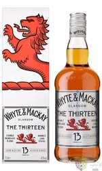 Whyte & Mackay 13 years old Double Merriage blend Glasgow Scotch whisky 40% vol.  0.70 l