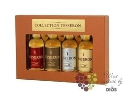 "Tesseron "" Collection of XO cognacs "" Grande Champagne Cognac 40% vol.   4 x  0.05 l"