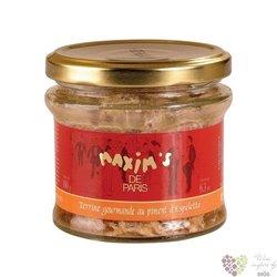 Francouzská vepřová terina s papričkami Espelette ve skleničce Larnaudie   190g