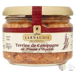 Francouzská venkovská terina s papričkami Espelette Jean Larnaudie  180g