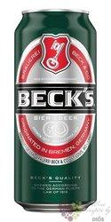 Beck´s German lager beer 5% vol.  0.33 l