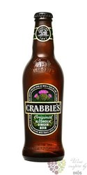 "Crabbies ginger beer "" Original "" of United Kingdom 4% vol.   0.33 l"