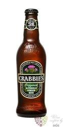 """Crabbies ginger beer """" Original """" of United Kingdom 4% vol.   0.33 l"""