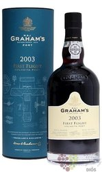 "W&J Graham´s 2003 "" First Flight "" Colheita Porto Doc by Symington 20% vol.  0.75 l"
