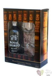 "Royal Oporto "" Ruby "" 2 glass gift pack Porto D by Real Compania Velha 19% vol.0.75 l"