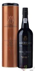 "J.H.Andresen port wine "" Royal Choice "" 20 years wood aged Tawny Porto Do 20% vol.    0.75 l"