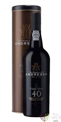 J.H.Andresen 40 years old wood aged Tawny Porto Do 20% vol.    0.75 l