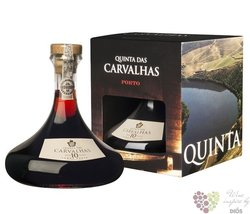 Quinta das Carvalhas port wine 10 years old carafe Porto Doc Real Compania Velha 20% vol.    0.75 l