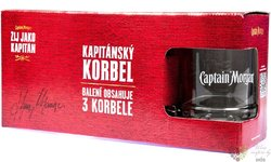 Captain Morgan sada sklenic Korbel  3ks