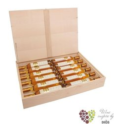 "Collection Trockenbeerenauslese  "" No.1-12 "" 2002 luxury wood box Burgenland Alois Kracher  0.375 l"