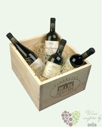 Dřevěná dárková krabice s motivem vinařství Reisten na šest lahví