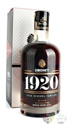 "Siboney "" Gran reserva 1920 "" aged rum of Dominican republic by Cachon Calyo 37.5% vol.  0.70 l"