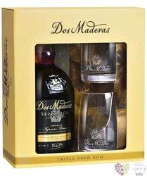 "Dos Maderas "" Seleccion "" 2glass set Caribbean rum Williams & Humbert 42% vol.  0.70 l"
