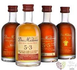 "Dos Maderas "" Tasting set "" Caribbean rum Williams & Humbert 40% vol.  4x0.05 l"