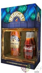 "Brugal aňejo "" Superior "" Cola gift set rum of Dominican republic 38% vol.  0.70 l"