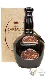 """Cartavio 1929 """" 75 Anniversario """" aged 12 years ceramic decanter rum of Peru 38%vol.    0.70 l"""
