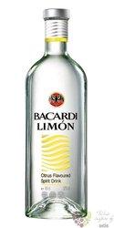 "Bacardi "" Limon "" flavored Puerto Rican rum 35% vol.  1.00 l"
