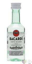 "Bacardi "" Carta blanca "" white Cuban rum 37.5% vol.  0.05 l"