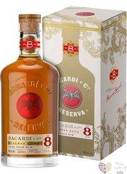 "Bacardi Reserva "" Ocho "" aged 8 years gift box Cuban rum 40% vol.  0.70 l"