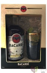 "Bacardi aňejo "" Cuatro "" aged 4 years Puerto Rican rum with glass 40% vol.  0.70 l"