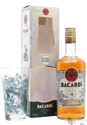 "Bacardi aňejo "" Cuatro "" 4glass set Puerto Rican rum 40% vol.  2x0.70 l"
