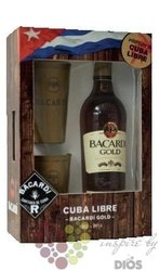 "Bacardi "" Gold Oro "" 2cups pack flavored Cuban rum 37.5% vol.  0.70 l"