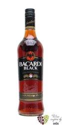 """Bacardi """" Black """" aged dark Cuban rum 40% vol.  1.00 l"""