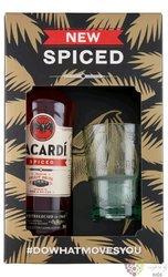 "Bacardi "" Spiced "" glass set white Cuban rum 35% vol.  0.70 l"