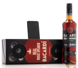 "Bacardi "" Carta Negra Music box "" aged Cuban rum 40% vol.   0.70 l"