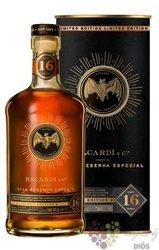 """Bacardi Gran reserva 2003 """" Especial ltd. """" aged 16 years Caribbean rum 40% vol.  1.00 l"""