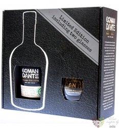 "El Comandante "" Reserva exclusiva "" glass set of aged Panamas rum 40% vol.  0.70 l"