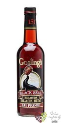 "Gosling´s "" Black Seal 151 proof "" black rum of Bermudy 75.5% vol.  0.70 l"