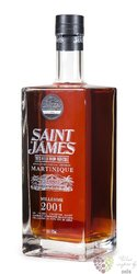 "Saint James agricole vieux "" Millesime 2001 "" vintage rum of Martinique 43% vol.1.00 l"