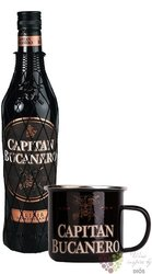 "Capitan Bucanero "" Elixir Dominicano "" pot set flavored rum of Dominican republic 34% vol.  0.70 l"