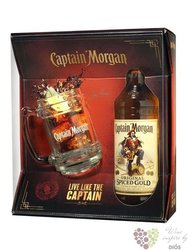 "Captain Morgan "" Original Spiced Gold "" glass pack Jamaican flavored rum 35% vol.   0.70 l"