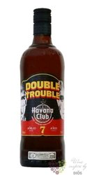 "Havana Club "" Double Trouble "" aged 7 years Cuban rum 40% vol.  0.70 l"
