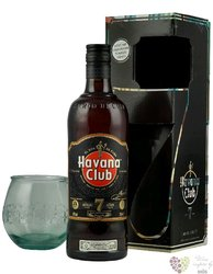 "Havana club "" Aňejo 7 aňos "" glass gift pack aged Cuban rum 40% vol.  0.70 l"