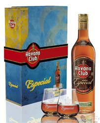 "Havana club "" Aňejo especial "" 2glass pack flavored Cuban rum 40% vol.  0.70 l"