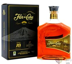 "Flor de Cańa "" Centenario 18 "" slow aged 18 years Nicaraguan rum 40% vol.  1.00l"