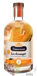 "Damoiseau agricole "" Mango ""  aged rum of Guadeloupe 30% vol.  0.70 l"