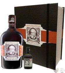 "Diplomatico "" Mantuano "" gift set aged rum of Venezuela 40% vol.  0.70 l"
