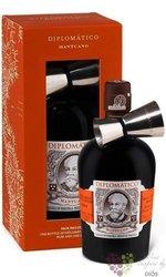 "Diplomatico "" Mantuano "" jigger gift set aged rum of Venezuela 40% vol.  0.70 l"
