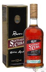 "Santiago de Cuba "" Extra aňejo 12 aňos "" Cuban rum aged 12 years 40% vol. 0.70 l"