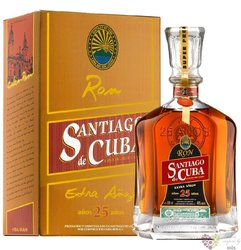 "Santiago de Cuba "" Extra aňejo 25 aňos "" Cuban rum aged 25 years 40% vol. 0.70 l"