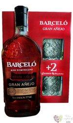 "Barcelo "" Grand Ańejo "" glass set aged Dominican rum 37.5% vol.  0.70 l"