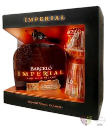 "Barcelo "" Imperial "" glass pack aged rum of Dominican Republic 38% vol.   0.70 l"