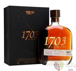 "Mount Gay "" 1703 Master select "" aged rum of Barbados 43% vol.  0.70 l"