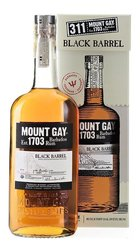 "Mount Gay "" Black barrel "" gift box aged rum of Barbados 43% vol.    0.70 l"
